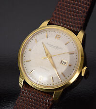 Vintage IWC Schaffhausen Men's 18k Solid Gold Automatic Calendar Date Watch