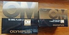 MINTY OLYMPUS OM  BOXED T8 RING FLASH 2 + BOXED T POWER CONTROL 1