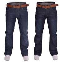 Crosshatch Mens Bootcut Wide Bottom Hardwearing Fashion Denim Boot Cut Jeans