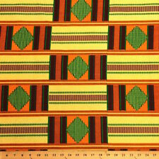Kente African Print Fabric 100% Cotton 44'' wide sold by the yard (19001-1)