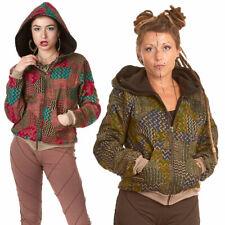 Ladies Hippy Hoodie, Geometric Print Jacket, Psy Trance Clothing, Grunge Hoodie