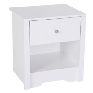 53Wx42.5Dx59H cm Bedside Table-White