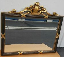 Bombay Company Large Kennedy Collection Mirror Ornate Black Gold Filigree