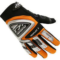 NEW ADULT OFF ROAD MOTOCROSS ENDURO MX TRAIL ATV QUAD GLOVES ORANGE
