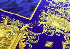 GIANNI VERSACE velvet fabric panel Golden Baroque & Animal print 52 x 53