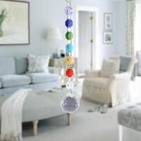 Crystal Glass Chandelier Light Ball Prism Drop Pendant Lamp Suncatcher Decor TP