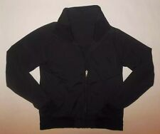LULULEMON TRACK ATTACK JACKET SOLID BLACK RUNNING DANCE WORKOUT YOGA EUC sz 4