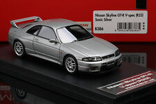 SKYLINE R33 GT-R V-Spec Sonic Silver-- HPI #8386 1/43  **RESIN**