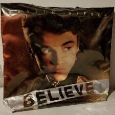 JUSTIN BIEBER Believe Tote Bag Vinyl Shopper Overnight Day Bag