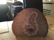 LARGE CRYSTAL CAVERN AGATE STONE  - PINK 12 Cm