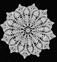 Antique White Blush Doily Pineapples Hand Crochet Doily 8 inch round decoration