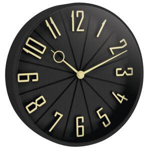 "Westclox Quartz 12"" Black Modern Wall Clock 32256"