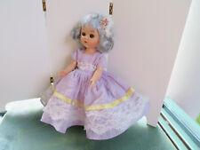 "vintage hard plastic Virga Purple lollypop Walk Doll Rare dress-8"" Ginny friend"