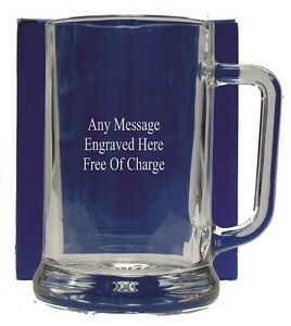 Personalised Pint Glass Tankard 18th 21st 30th 50th 60th Birthday Free Gift Box