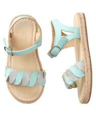 Gymboree Girls true BLUE sandals shoes Size 8