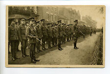Welsh Troops Picture Postcard Day, National Fund, soldiers lined up on street