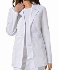 Dickies Women's Lab Coat White Size XL Button Front Notch Collar $34 #809