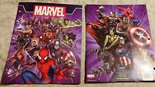 Lot of Two Marvel Universe 2 Pocket Portfolio Folders, 3-Hole Punched for Binder