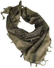 Olive Black Tactical Arab Shemagh Scarf 100% Cotton