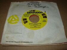 """DRONGOS don't touch me / halloween ( rock ) 7"""" / 45 SIGNED ??"""