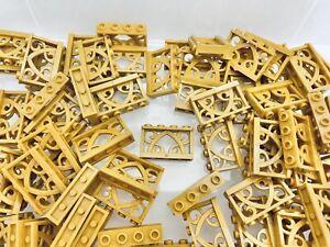 LEGO 19121 - 1x4x2 Flower Ornamental Pear Gold Fences / 8 Pieces Per Order