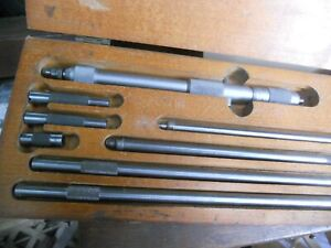 """Starrett 823DZ 4 to 32"""" Range Tubular Inside Micrometer Set - Multicoloured"""