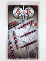 "AXE BONE CRUSHER Expandable Curved Sickle Chisel Tip 100Gr 2"" Cut Broadheads 5pk"
