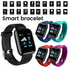 Smart Watch Impermeabile Orologio Cardio Frequenzimetro Sportico PER Android Blu