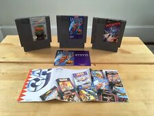 Nes Shooter Lot: Life Force, Legendary Wings wwith Manual & Poster, Defender ii