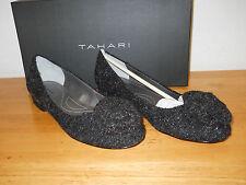 Tahari New Womens Natalie Black Fabric Flats 6 M Shoes NWB