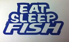 EAT SLEEP PESCE- ADESIVO ATTREZZATURA DI PESCA SEA BASSI CARP LEUCISCO PIKE