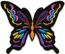 Butterfly hippie boho chic retro love peace groovy applique iron-on patch G-32