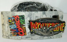 Marvel's Wolverine Name and Figure Belt Buckle and Belt, Waist 31-37 UNUSED