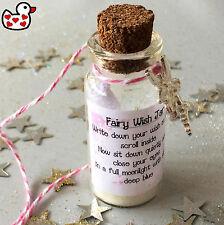 Fairy Wishes Jar Glitter Dust Scroll Gift Keepsake Present Teacher Memento Magic
