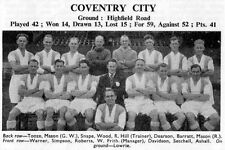 COVENTRY CITY FOOTBALL TEAM PHOTO 1947-48 SEASON