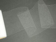 "White birdcage bridal wedding veil netting french birdcage veiling net 9""x 44"""