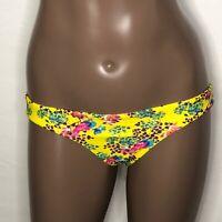 **M 4-6 Vix Hermanny Lola Floral Hipster Bikini Swim Bottom Yellow Multi