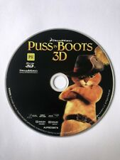 Puss In Boots 3D Blu Ray Disc Only Rated PG Like New Movie 🍿 Kids Family