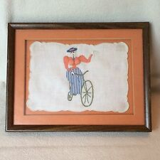 Vintage 1930s Naughty Handkerchief Pin Up Girl Applique Corset Framed Breasts