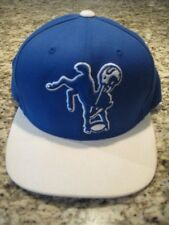 Indianapolis Colts mitchell and ness royal blue throwback hat cap snap back new