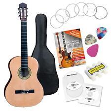Set Guitare Concert Classique 7/8 Cordes Plectres Housse Pitch Pipe Accordeur