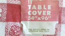 Vintage Red Checkered Paper Tablecloth, Still in Factory Pack, 54� x 96�