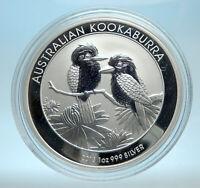 2013 AUSTRALIA Silver 1 Dollar w 2 Kookaburra Birds Australian 1oz Coin i77546
