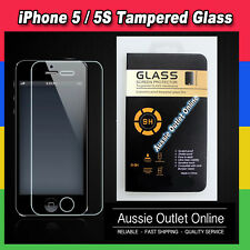 TEMPERED GLASS Screen Film Protector for Apple iPhone 5/5S  - Aussie Outlet