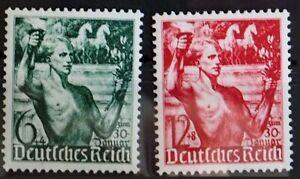 1938 Deutsches Reich; Serie Machtergreifung  **/MNH MiNr. 660/61, ME 20,-