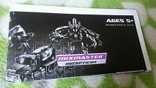 Transformers ROTF MIXMASTER INSTRUCTION BOOKLET ONLY