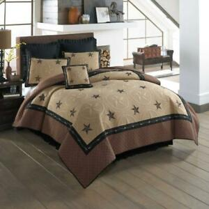 Donna Sharp Fort Worth Texas **KING** 3-Pc Quilt Set Rustic Lodge Barb Wire New