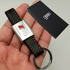 Audi RS Leather Key Ring Fob Chain Case Holder With Box Gift For Him Her