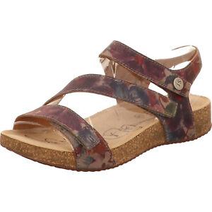Josef Seibel Damen Sandale Leder rot blau Tonga 25