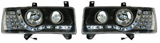 For VW Transporter T4 90-03 S Nose Projector Headlights Black DRL LED Ind Pa